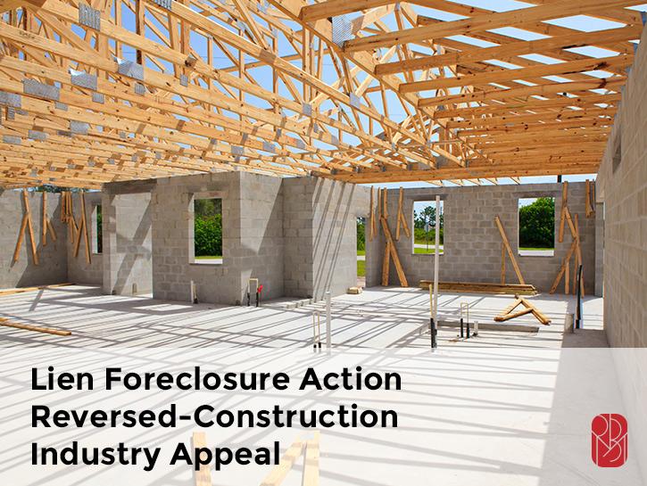 lien foreclosure law